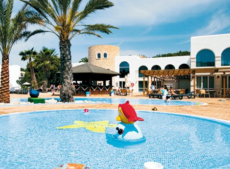 The swimming pools at Insotel Tarida Beach Resort on Ibiza