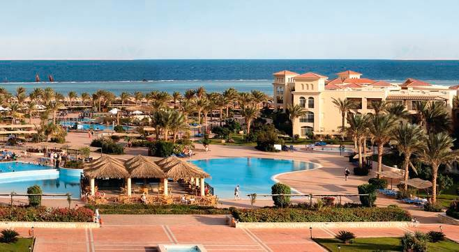 The setting of Jaz Mirabel Beach in Sharm El Sheikh