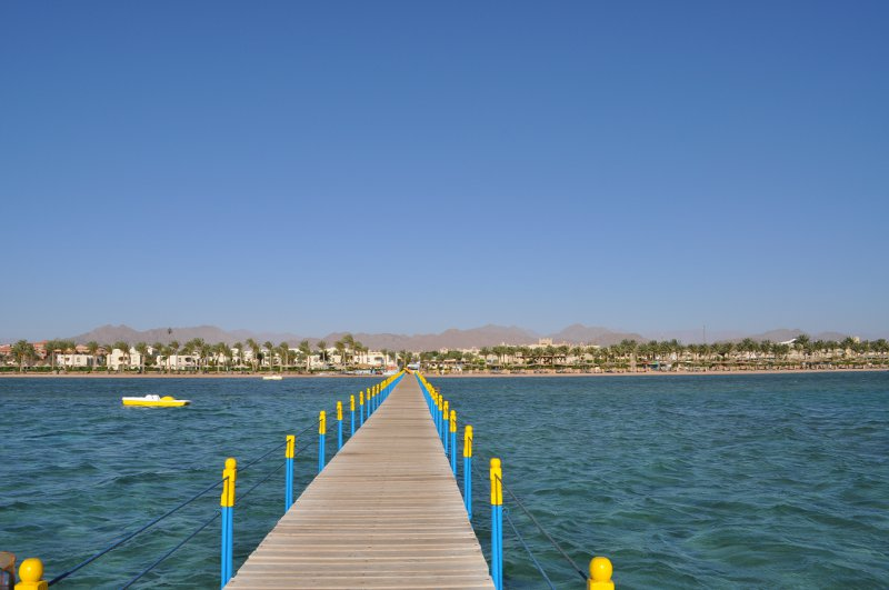 The coast near Club Magic Life in Sharm