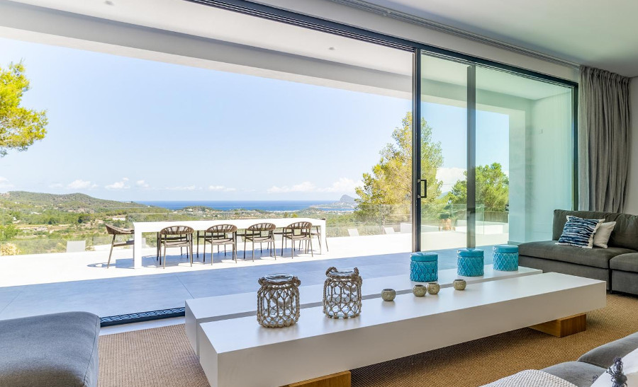 Casa Can Lima is a modern holiday villa on Ibiza, this is the inside