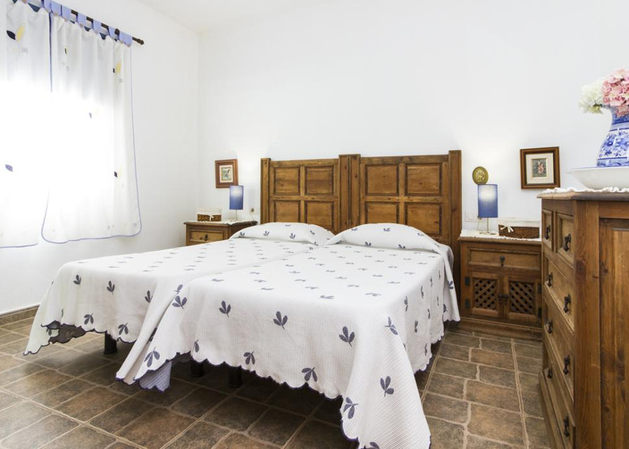 One of the two bedrooms at Villa Graciana on Lanzarote