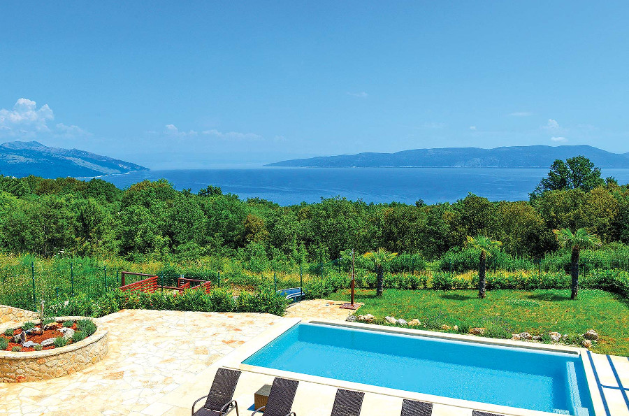 The views of the Adriatic Sea from Villa La Beata, Croatia