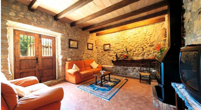 The living room at Villa Mala Garba on Majorca