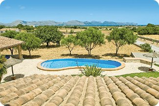 The pool at Villa Padilla