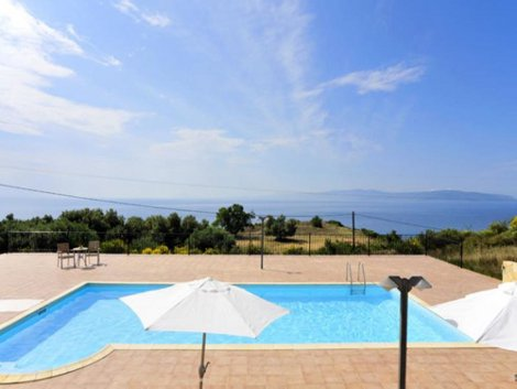 Take in the views from Villa Valentina on Kefalonia