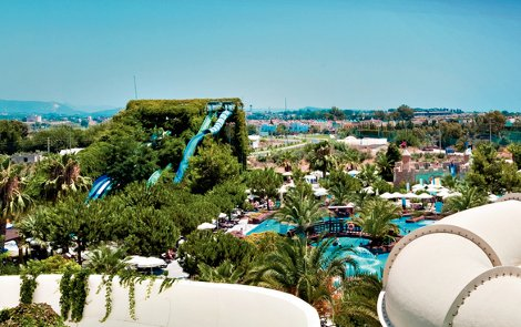 The water park at Ali Bey Club Manavgat, Turkey