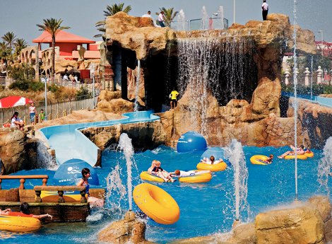 The water park at Holiday Palace Hotel in the Costa del Sol