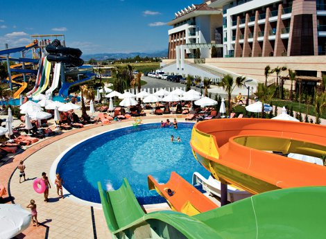 The water park at Sherwood Dreams, Turkey